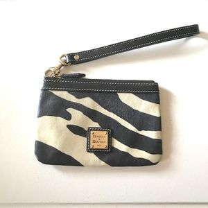 Dooney & Bourke Zebra  leather wristlet